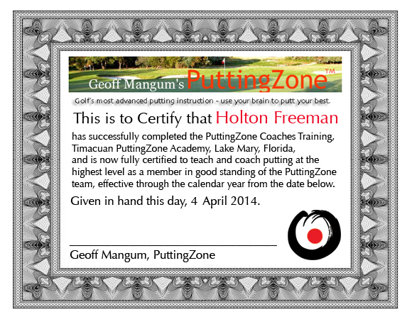 Holton Freeman Certificate